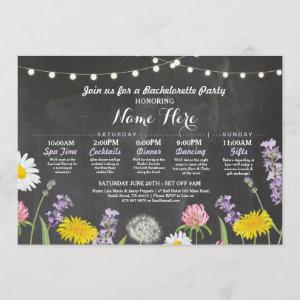 Bridal Shower Itinerary Bachelorette Wild Flowers starting at 2.51