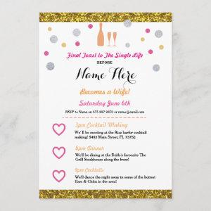 Bridal Shower Itinerary Champagne starting at 2.51