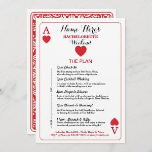 Bridal Shower Itinerary Las Vegas Cards Invite starting at 2.51