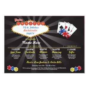 Bridal Shower Itinerary Las Vegas LV Bachelorette Invitation starting at 2.51