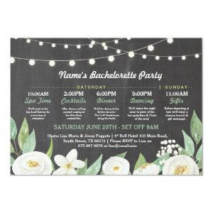 Bridal Shower Itinerary White Flower Rustic Lights Invitation starting at 2.51
