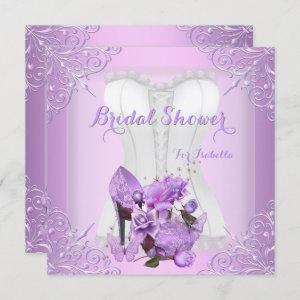 Bridal Shower Lilac Rose Hi Heel Lace Butterfly 2 Invitation starting at 2.40
