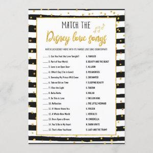 Bridal Shower Love Songs Game | Gold Confetti Invitation starting at 2.25