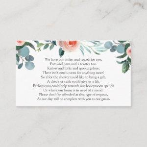 Bridal Shower Money Request Enclosure Card starting at 0.25