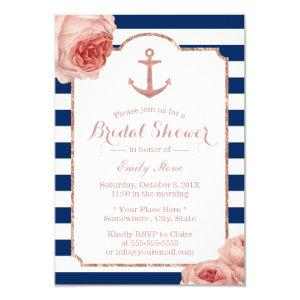 Bridal Shower Nautical Anchor Vintage Floral #2 Invitation starting at 2.00