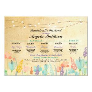 Bridal Shower Party Floral Itinerary Vintage Invitation starting at 2.51