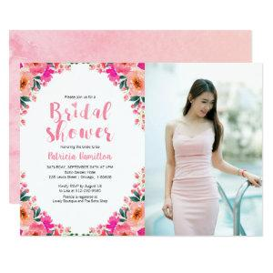 Bridal Shower Photo Invitations Floral Watercolor starting at 2.35