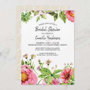 Bridal Shower Pink Blush Watercolor Peony Flowers Invitation starting at 2.51