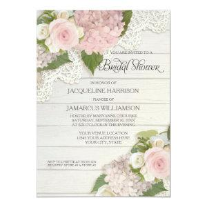 Bridal Shower Pretty Flower Vintage Lace Hydrangea Invitation starting at 2.66
