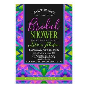 Bridal Shower • Purple Green Hippie Trance Party Invitation starting at 3.17