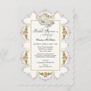 Bridal Shower Roses Tea Party Teapot n Teacups Invitation starting at 2.91