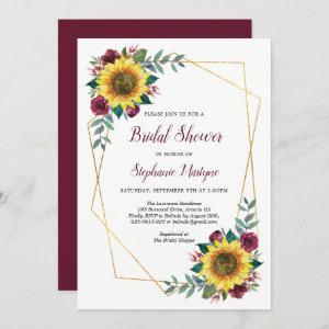 Bridal Shower Sunflowers Geometric Floral Invitation starting at 2.40