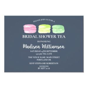 Bridal Shower Tea French Macaroon on Slate Invitation starting at 2.15