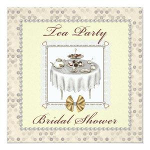 Bridal Shower Tea Party Desserts Square Invitation starting at 2.51