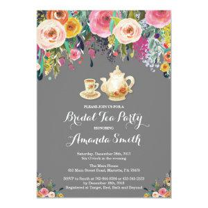 Bridal Shower Tea Party Invitation Floral starting at 2.35