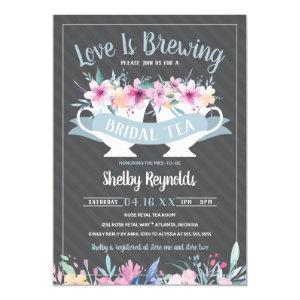 Bridal Shower Tea Party Invitation with Flowers starting at 2.45