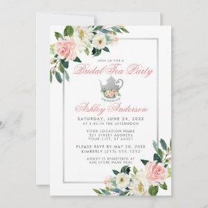 Bridal Shower Tea Party Pink Floral Invite P starting at 2.51