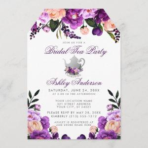 Bridal Shower Tea Party Purple Violet Invite T starting at 2.76