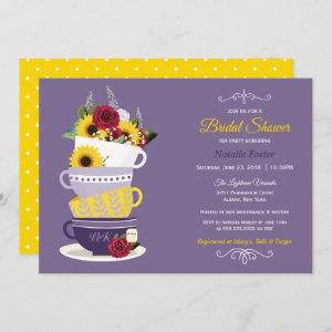 Bridal Shower Tea Party - Sunflower, Roses & Lilac starting at 2.66