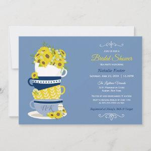 Bridal Shower Tea Party Sunflowers | Blue & Yellow starting at 2.66