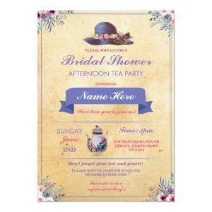 Bridal Shower Teapot Hat Afternoon Garden Party Invitation starting at 2.51