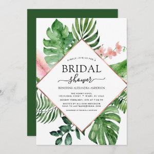 Bridal Shower Tropical Palm Watercolor Geometric starting at 2.51