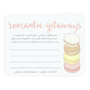 Bridal Shower Vacation Idea Cards | French Macaron starting at 2.30