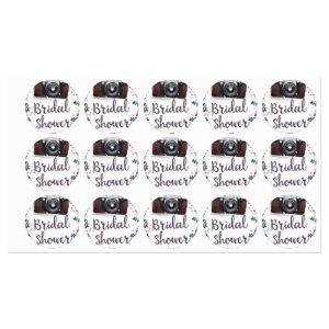 Bridal Shower Vintage flowers and classic camera Labels starting at 60.20