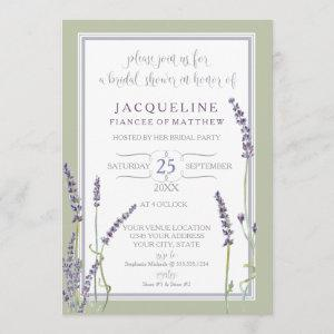 Bridal Shower Watercolor French Lavender Flowers starting at 2.66