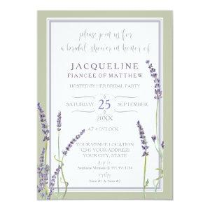 Bridal Shower Watercolor French Lavender Flowers Invitation starting at 2.66