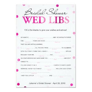 Bridal Shower Wishes and Advice Magenta Game Invitation starting at 2.35