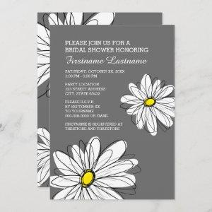 Bridal Shower with Modern Daisy Flowers Invitation starting at 2.25