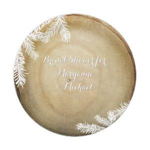 Bridal Shower Woodland Forest Center Cut Tree Paper Plate starting at 1.70