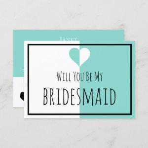 BRIDE & Be My Bridesmaid You & Me Wedding Suite Invitation starting at 2.55