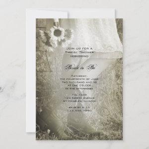 Bride, Boots and Sunflowers Country Bridal Shower Invitation starting at 2.60