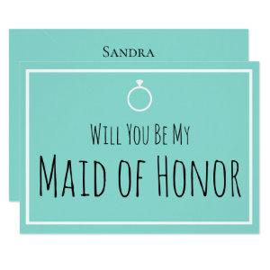 BRIDE & Bridesmaids Be My Maid Honor Shower Party Invitation starting at 2.55