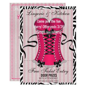BRIDE & Bridesmaids Lingerie Pink Shower Party Invitation starting at 3.05