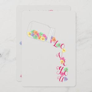 BRIDE Candy Hearts I Love You Celebration Party Invitation starting at 3.25
