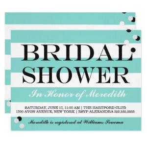 Bride Co Little Black Dress Teal Blue Shower Party Invitation starting at 2.65