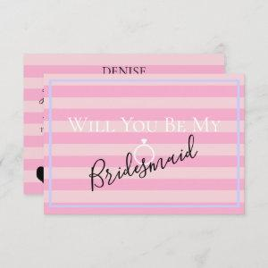 BRIDE CO Pink Will You Be My Bridesmaid MOH Party Invitation starting at 2.55