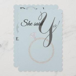 BRIDE & CO She Said Yes! Diamond Ring Engagement Invitation starting at 4.15