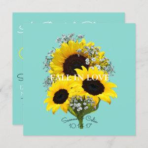 BRIDE & CO Sunflower Fall In Love Bridal Shower Invitation starting at 2.95