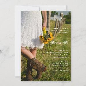 Bride, Cowboy Boots and Sunflowers Bridal Shower Invitation starting at 2.60