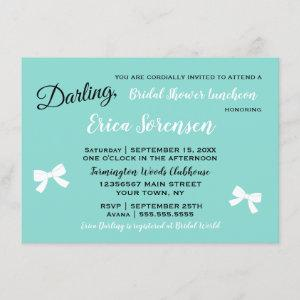 Bride & Family Little Black Dress Tiara Party Invitation starting at 2.20