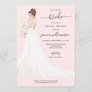 Bride in Lace Gown Bridal Shower Invitation starting at 2.60