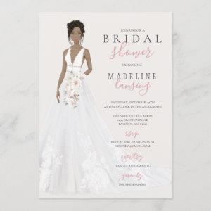 Bride in Lace Wedding Gown Bridal Shower Invitation starting at 2.40
