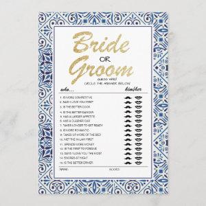Bride or Groom game fully editable card starting at 2.51