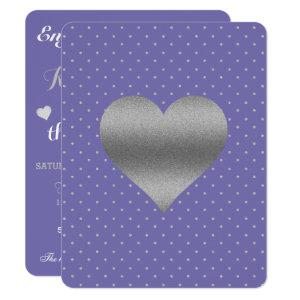 BRIDE  Purple Plum Silver Polka Dot Shower Party Invitation starting at 2.40