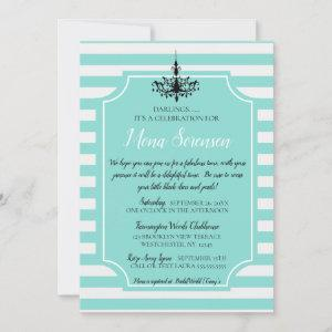 Bride Teal Blue Tea Bridal Brunch Shower Party starting at 2.95