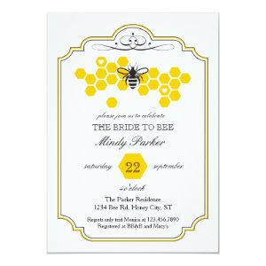 Bride to Bee Bridal Shower Invitation starting at 2.61